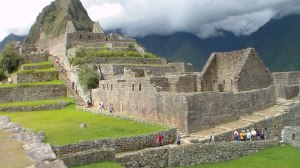 Machu Picchu, a 15th-century Inca site located 7,970 ft above sea level in the Cusco Region of Peru. Believed to be and estate  built for the Inca emperor Pachacuti (1438–1472), it was abandoned a century later at the time of the Spanish Conquest