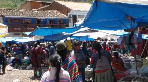 Pisac market, a Peruvian village in the Sacred Valley on the Urubamba River, is well known for its market every Sunday, Tuesday, and Thursday, an event which attracts heavy tourist traffic from nearby Cusco.
